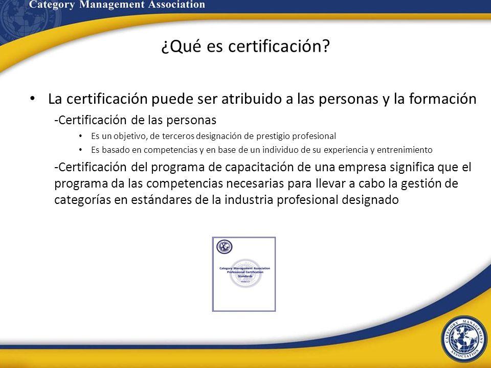 ¿Qué es certificación La certificación puede ser atribuido a las personas y la formación. -Certificación de las personas.
