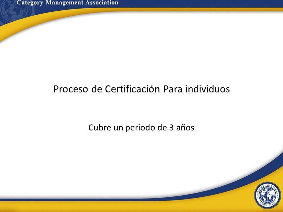 Proceso de Certificación Para individuos