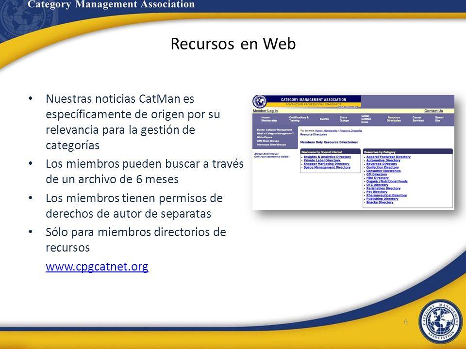 Recursos en WebNuestras noticias CatMan es específicamente de origen por su relevancia para la gestión de categorías.