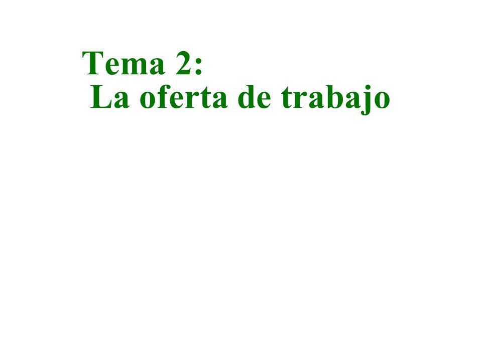 Tema 2: La oferta de trabajo