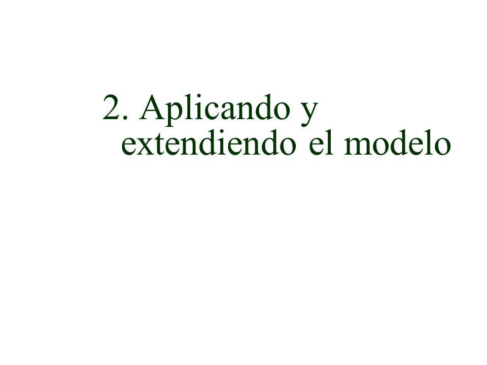 2. Aplicando y extendiendo el modelo