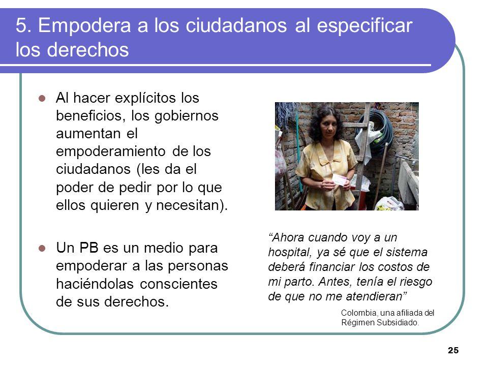 5. Empodera a los ciudadanos al especificar los derechos