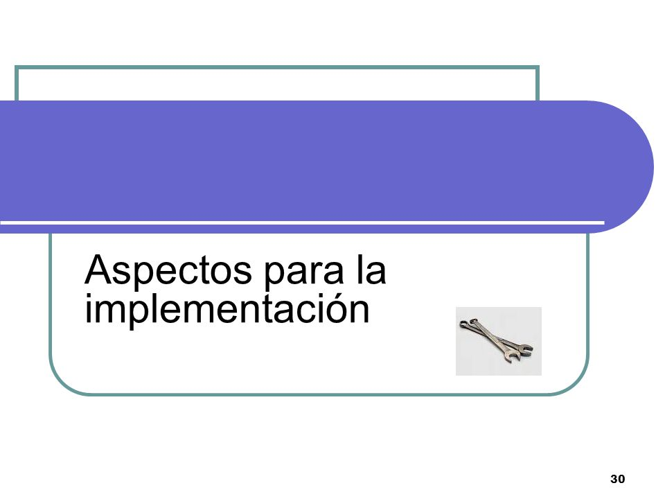 Aspectos para la implementación