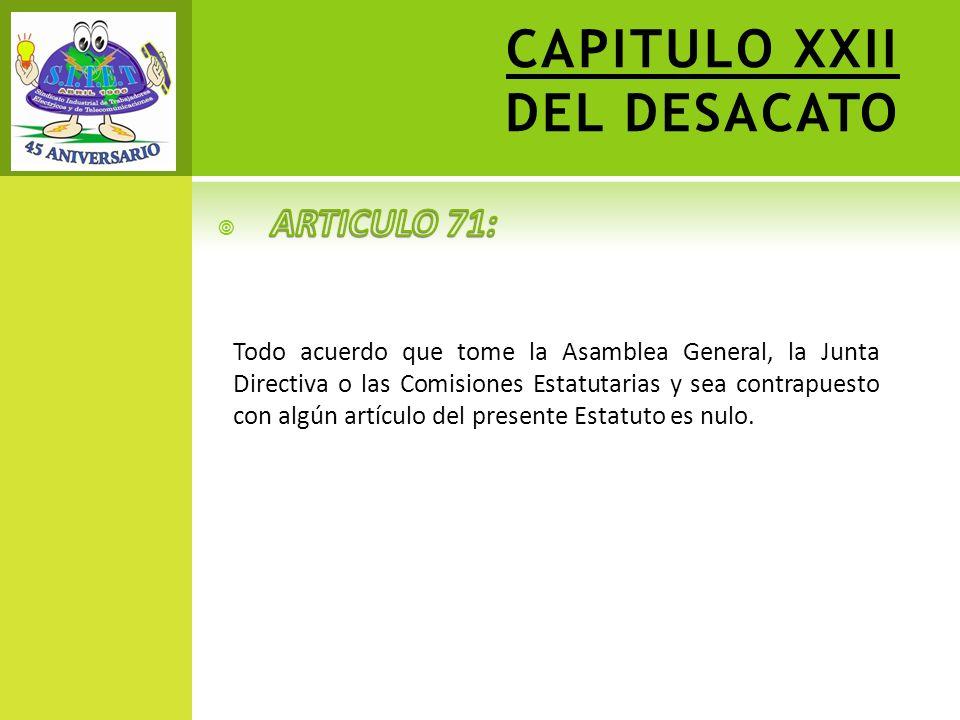 CAPITULO XXII DEL DESACATO