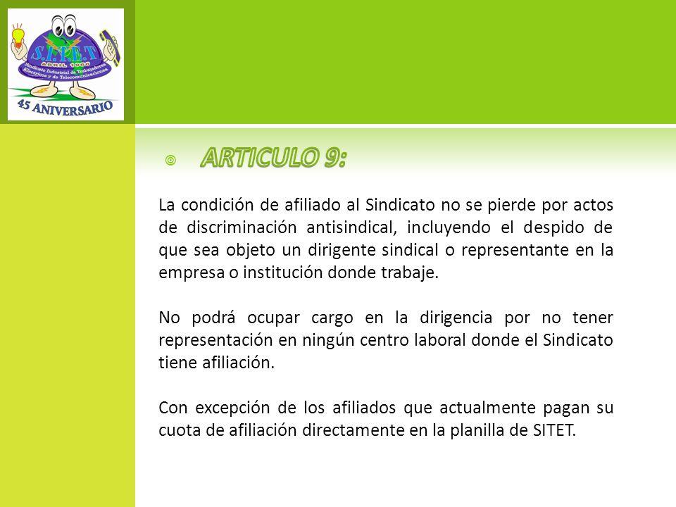 ARTICULO 9: