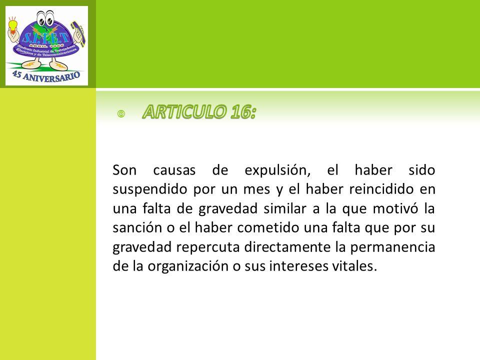 ARTICULO 16: