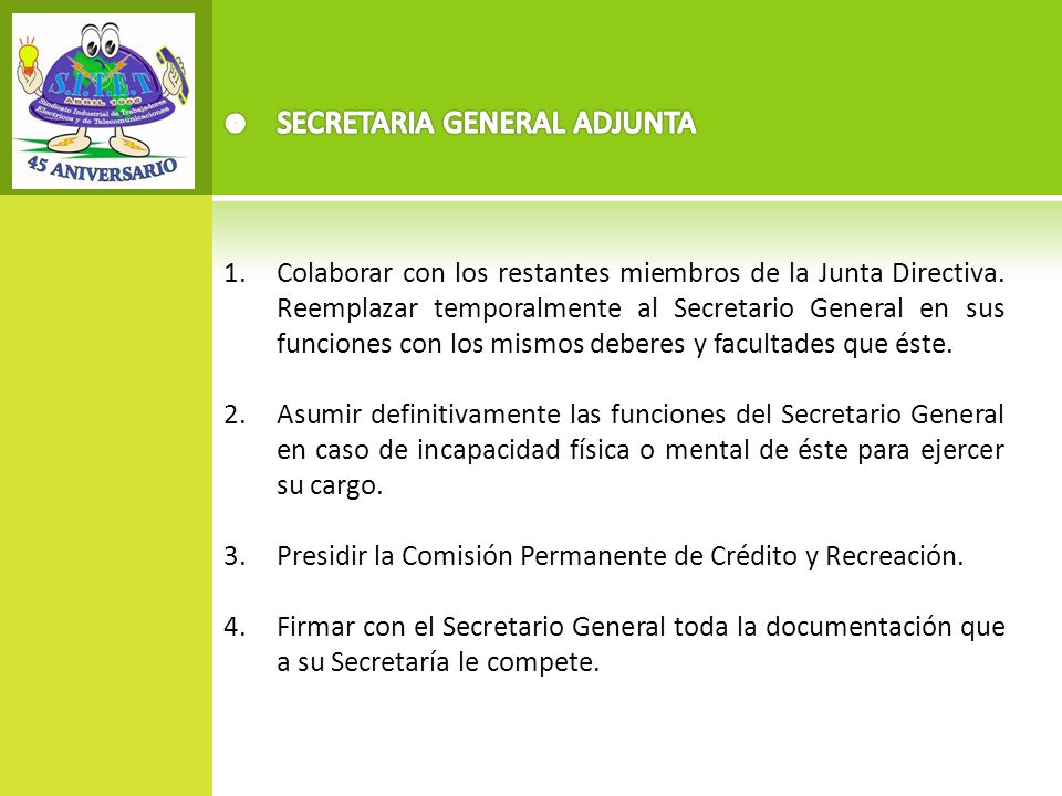 SECRETARIA GENERAL ADJUNTA