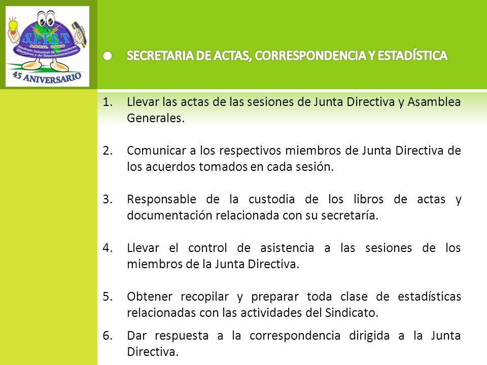 SECRETARIA DE ACTAS, CORRESPONDENCIA Y ESTADÍSTICA
