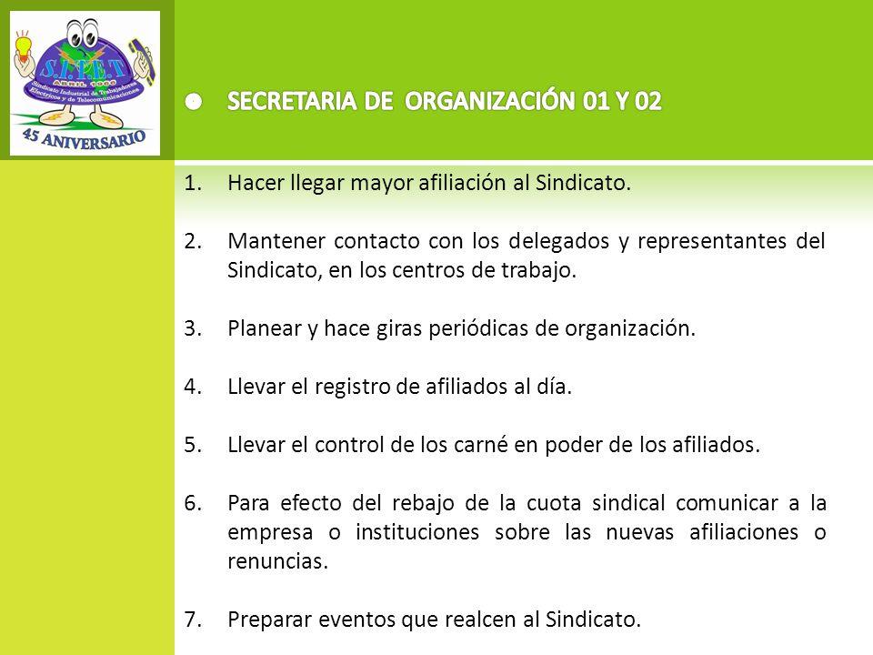 SECRETARIA DE ORGANIZACIÓN 01 Y 02