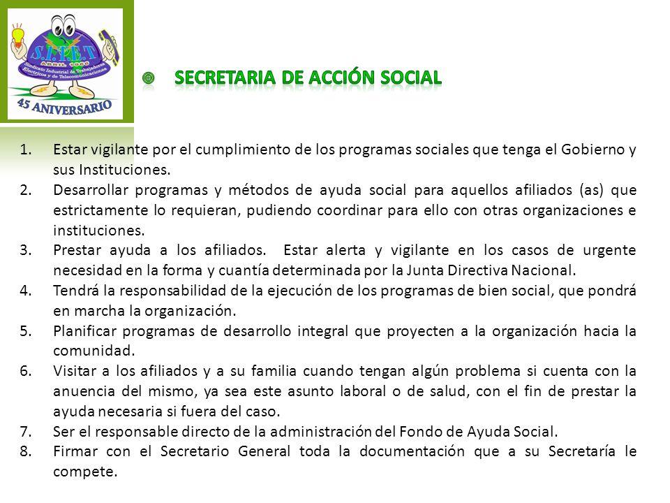 SECRETARIA de acción social