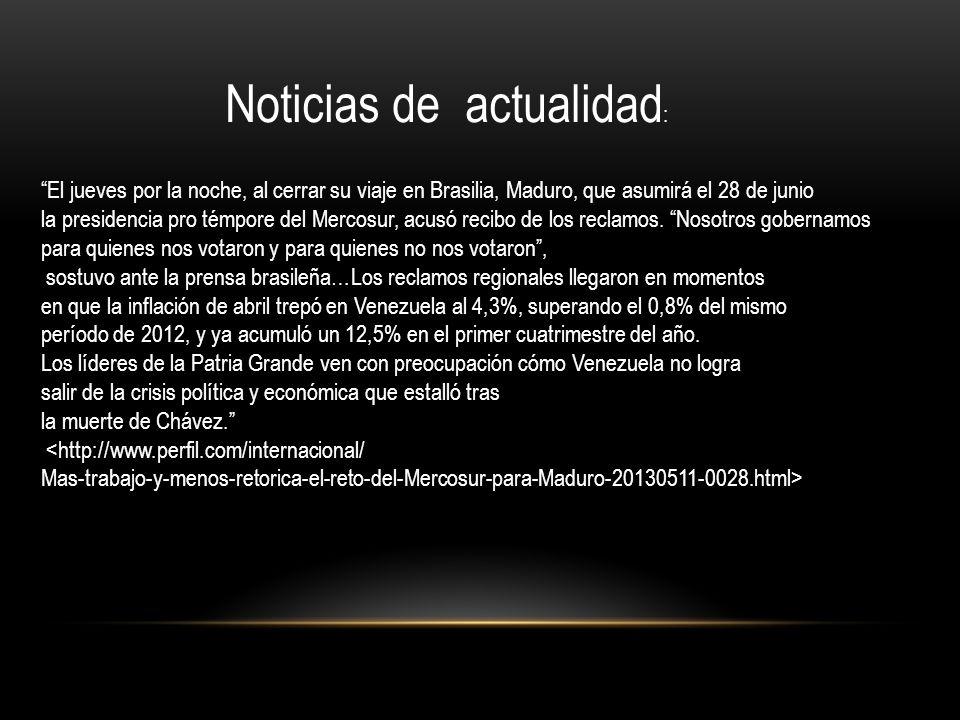 Noticias de actualidad: