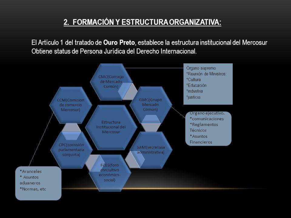 2. Formación y Estructura organizativa: