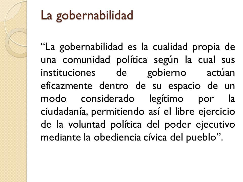La gobernabilidad