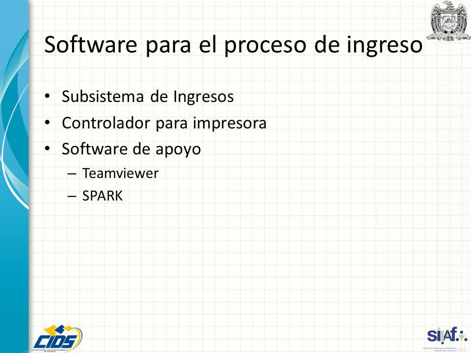 Software para el proceso de ingreso
