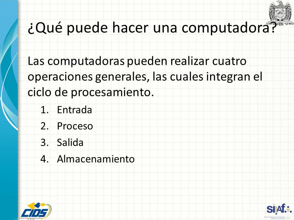 ¿Qué puede hacer una computadora