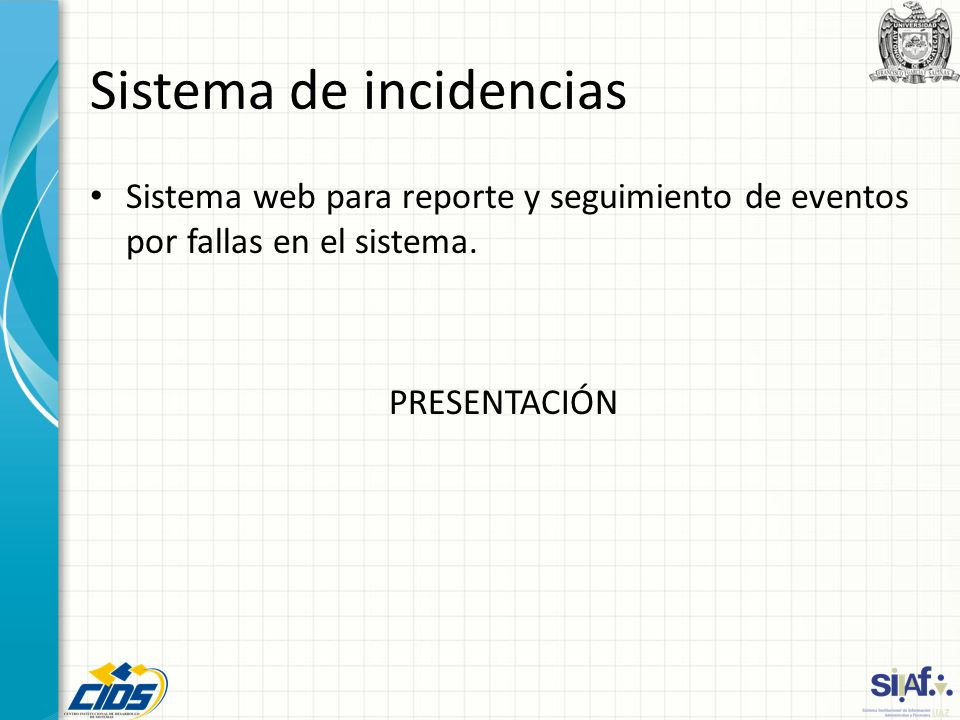 Sistema de incidencias