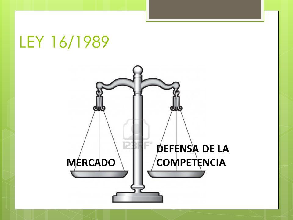 LEY 16/1989 DEFENSA DE LA COMPETENCIA MERCADO