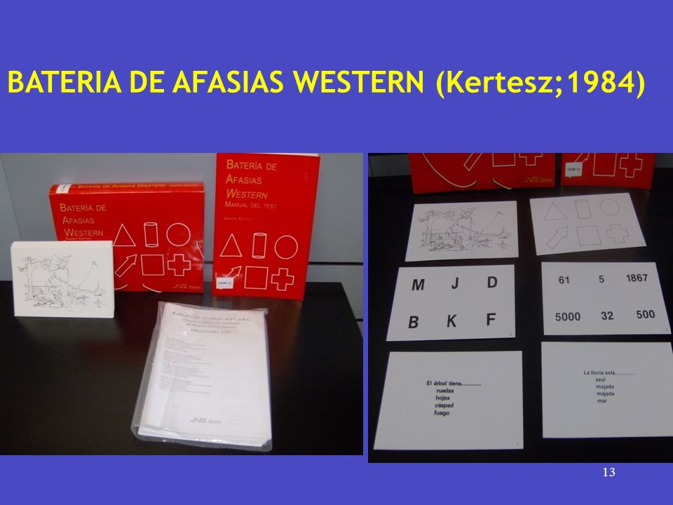 BATERIA DE AFASIAS WESTERN (Kertesz;1984)