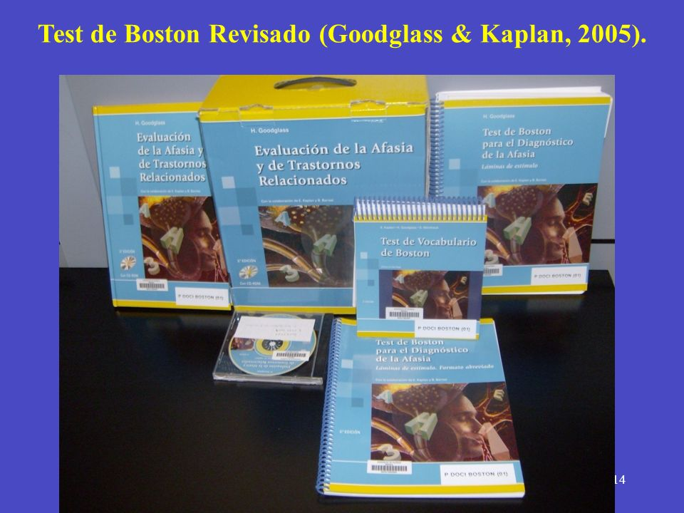 Test de Boston Revisado (Goodglass & Kaplan, 2005).