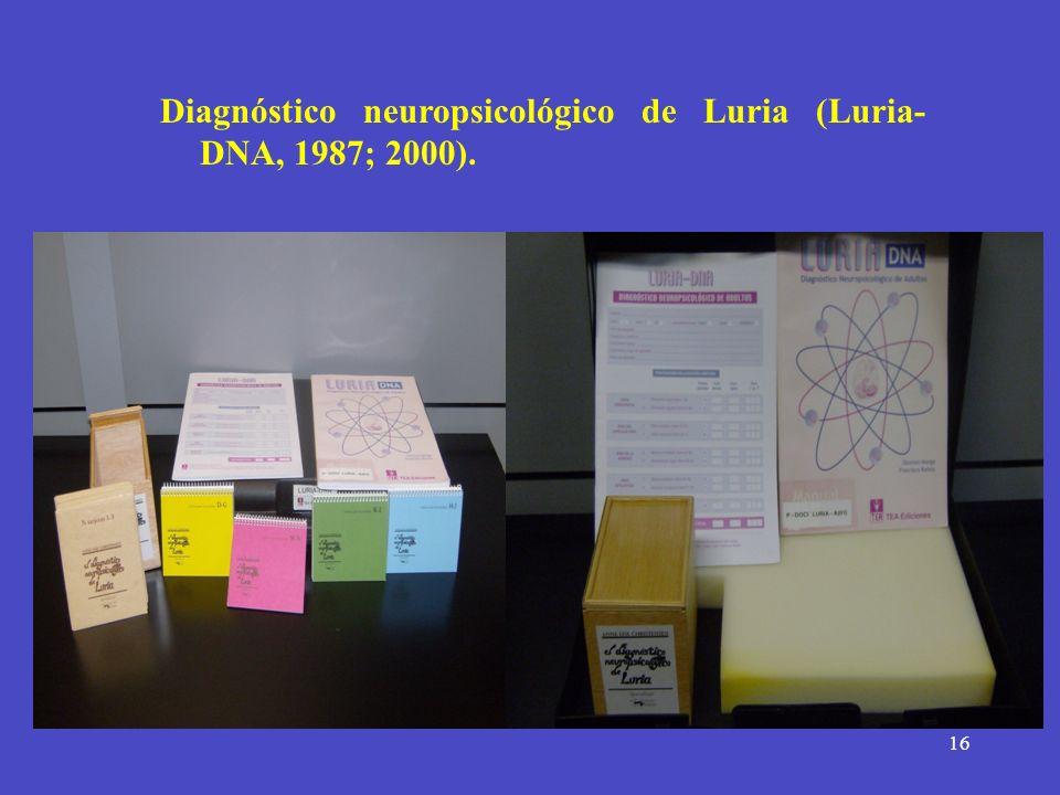 Diagnóstico neuropsicológico de Luria (Luria- DNA, 1987; 2000).
