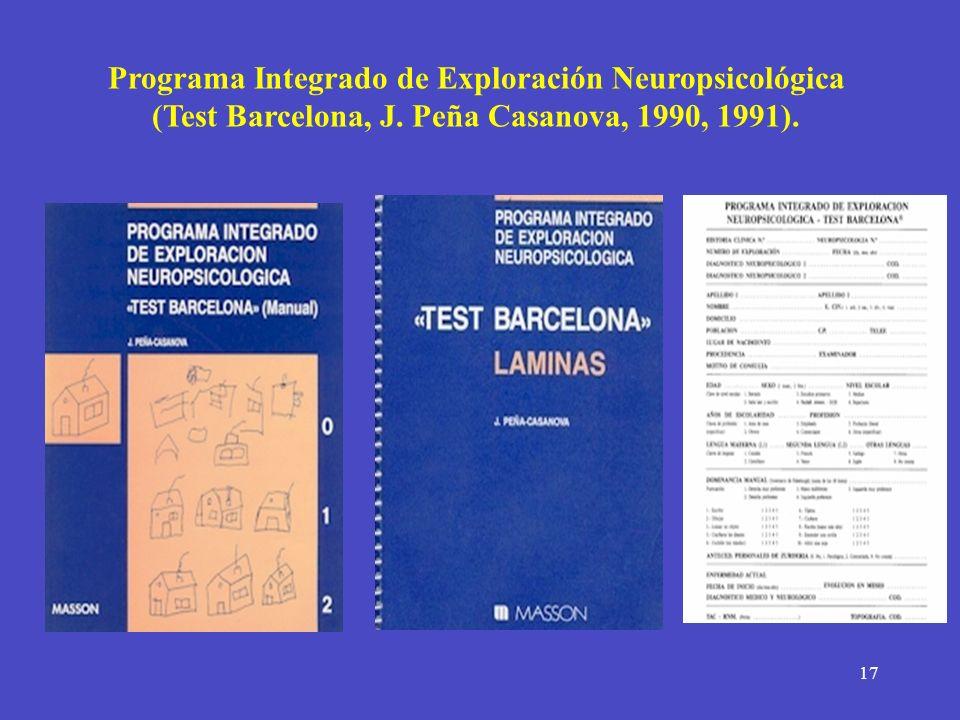 Programa Integrado de Exploración Neuropsicológica