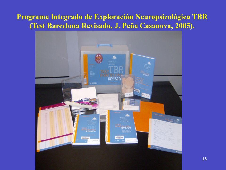Programa Integrado de Exploración Neuropsicológica TBR