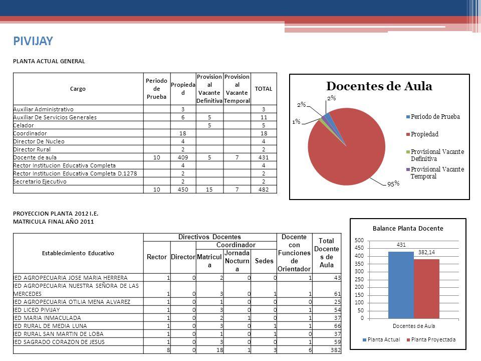 PIVIJAY PLANTA ACTUAL GENERAL Cargo Periodo de Prueba Propiedad