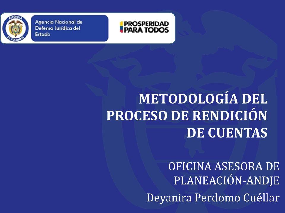 METODOLOGÍA DEL PROCESO DE RENDICIÓN DE CUENTAS
