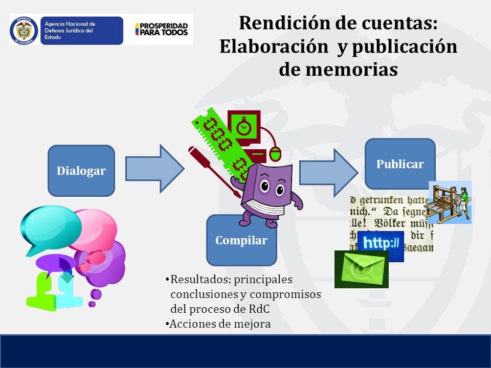 Rendición de cuentas: Elaboración y publicación de memorias
