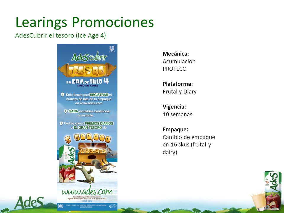 Learings Promociones AdesCubrir el tesoro (Ice Age 4)