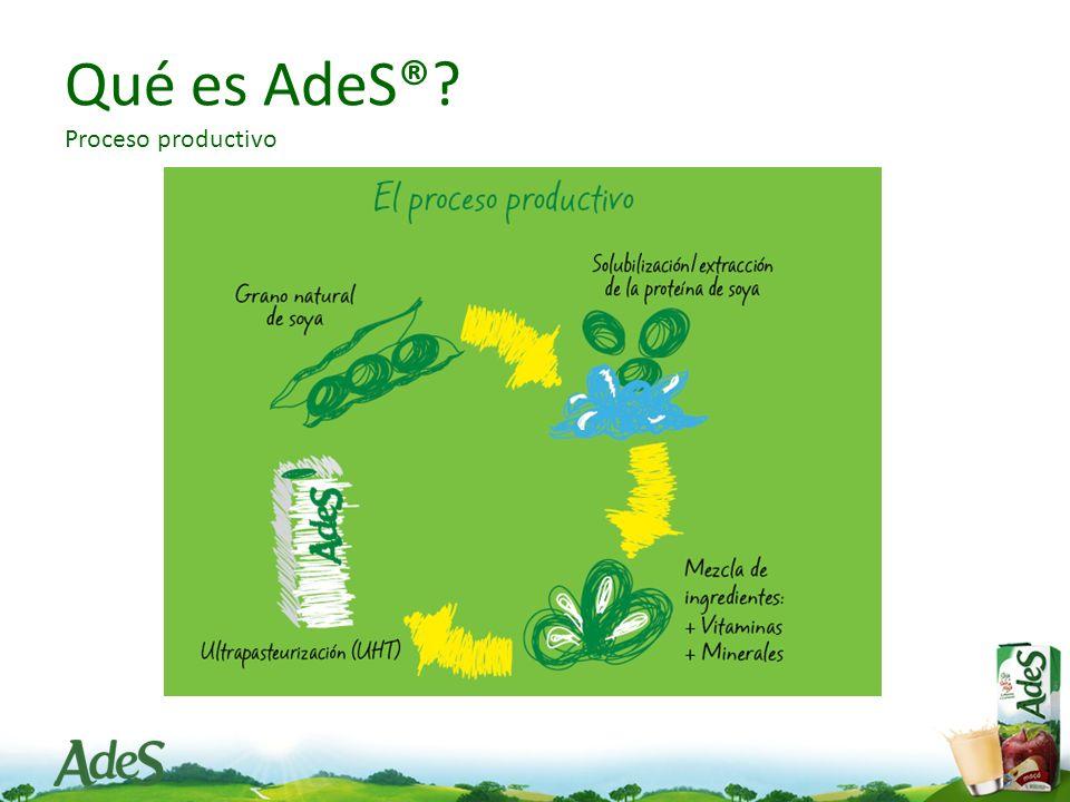 Qué es AdeS® Proceso productivo