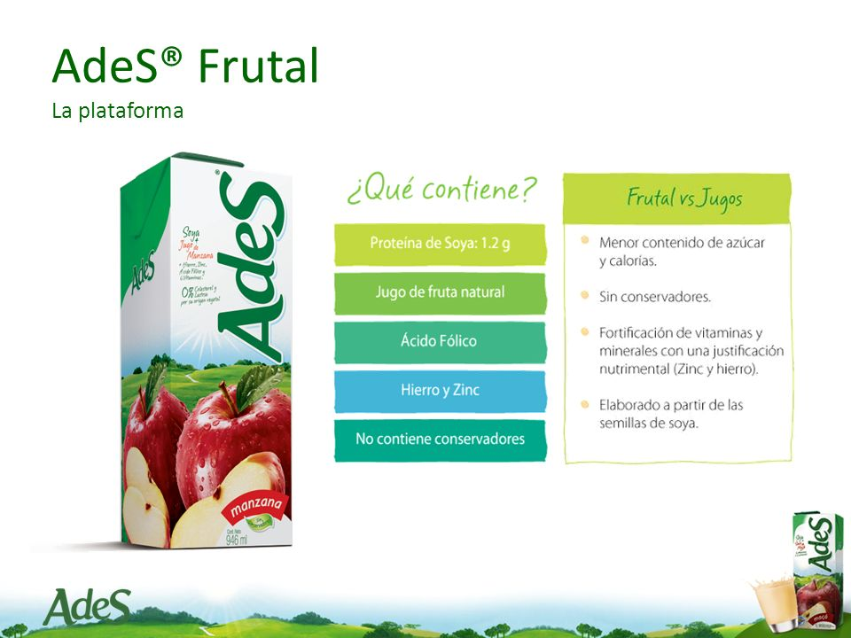 AdeS® Frutal La plataforma
