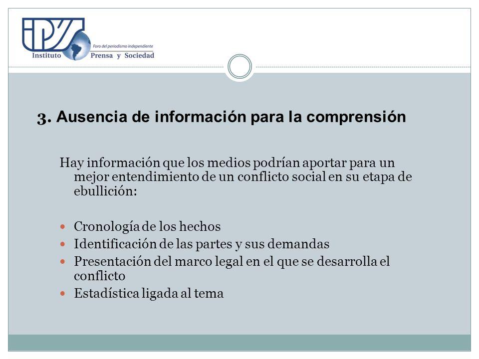 3. Ausencia de información para la comprensión