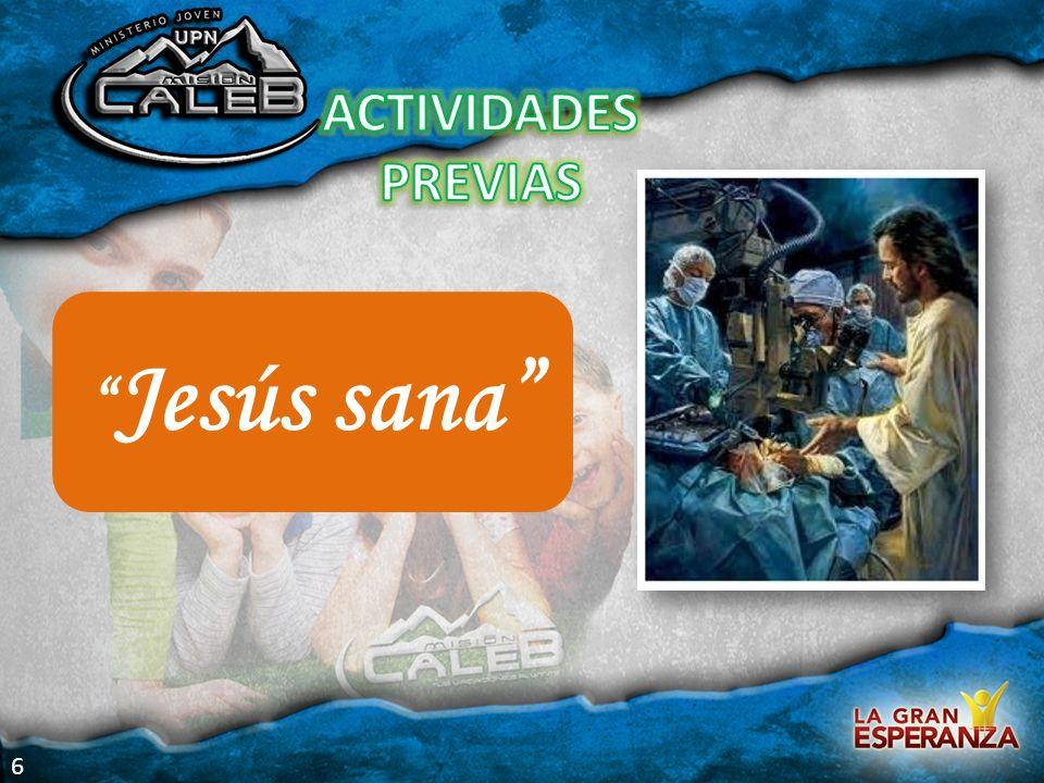 Jesús sana ACTIVIDADES PREVIAS 6 Actividades previas