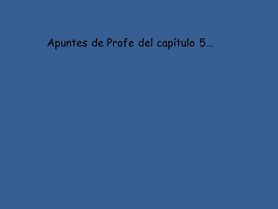 Apuntes de Profe del capítulo 5…