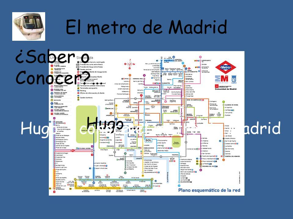 El metro de Madrid ¿Saber o Conocer … conocer Hugo …