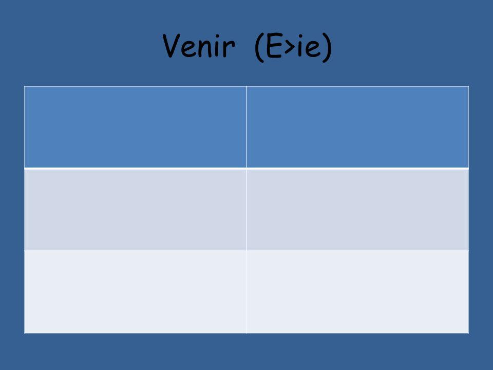 Venir (E>ie)