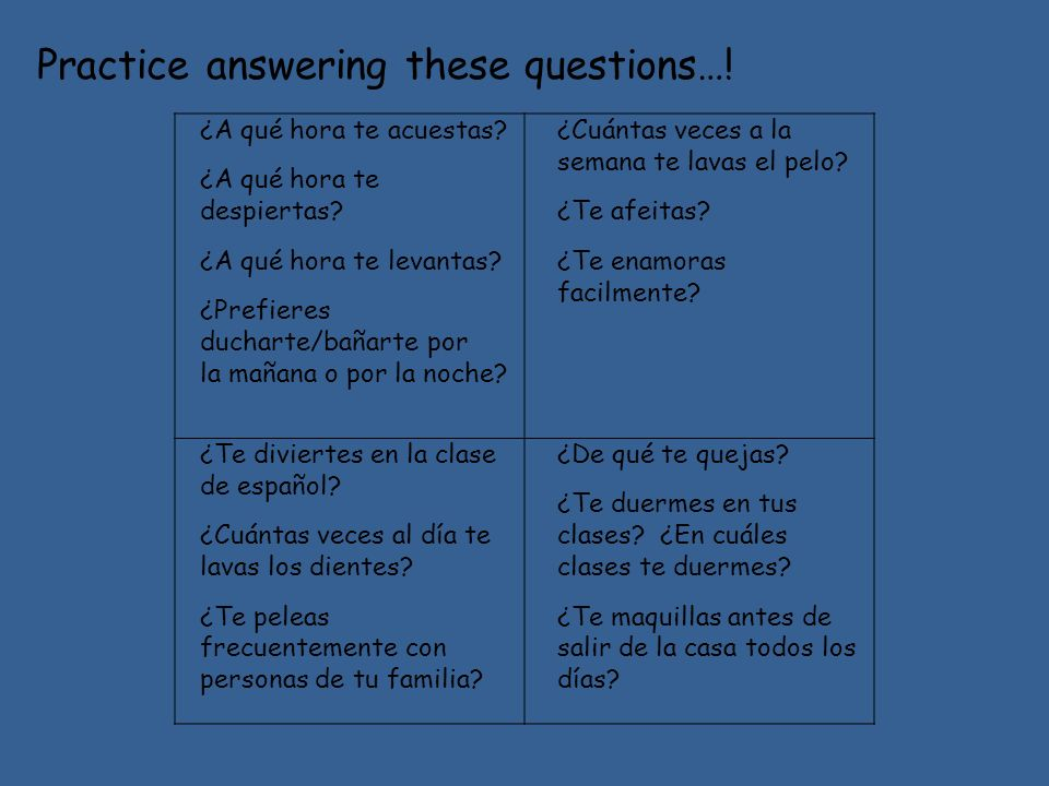 Practice answering these questions…!