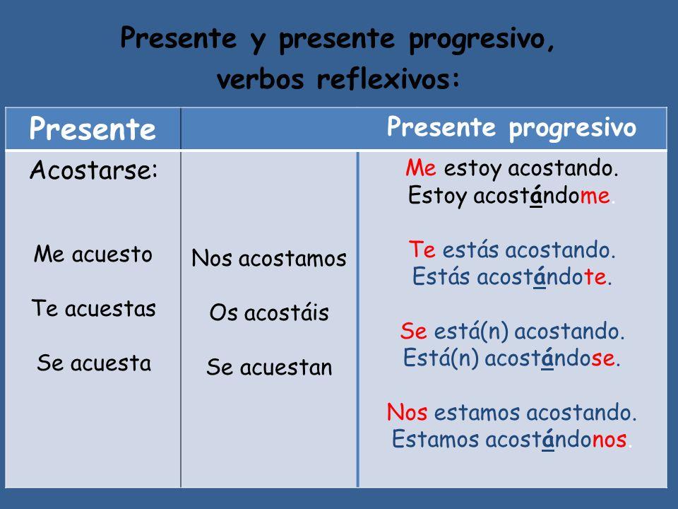 Presente y presente progresivo,