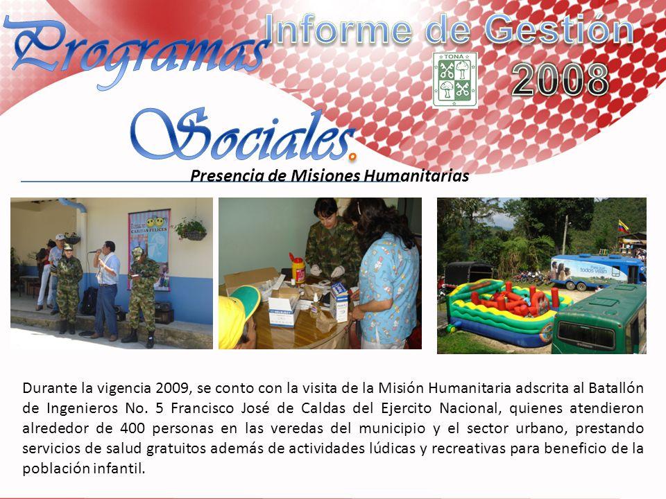 Presencia de Misiones Humanitarias