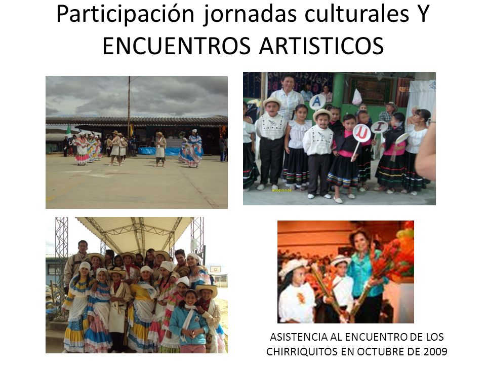 Participación jornadas culturales Y ENCUENTROS ARTISTICOS