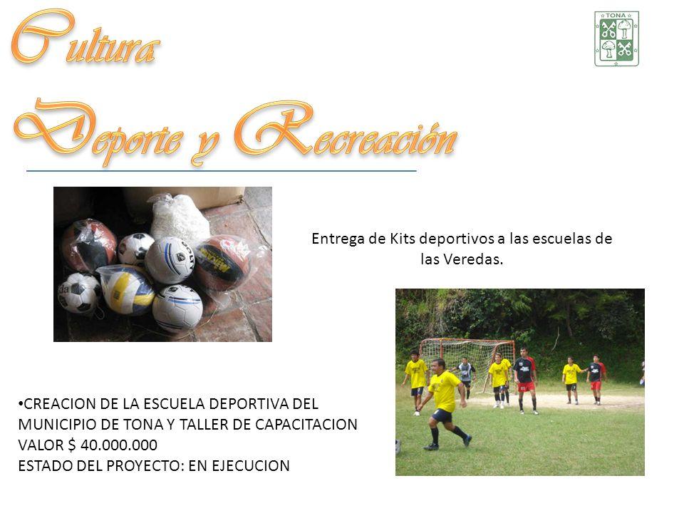 Entrega de Kits deportivos a las escuelas de las Veredas.