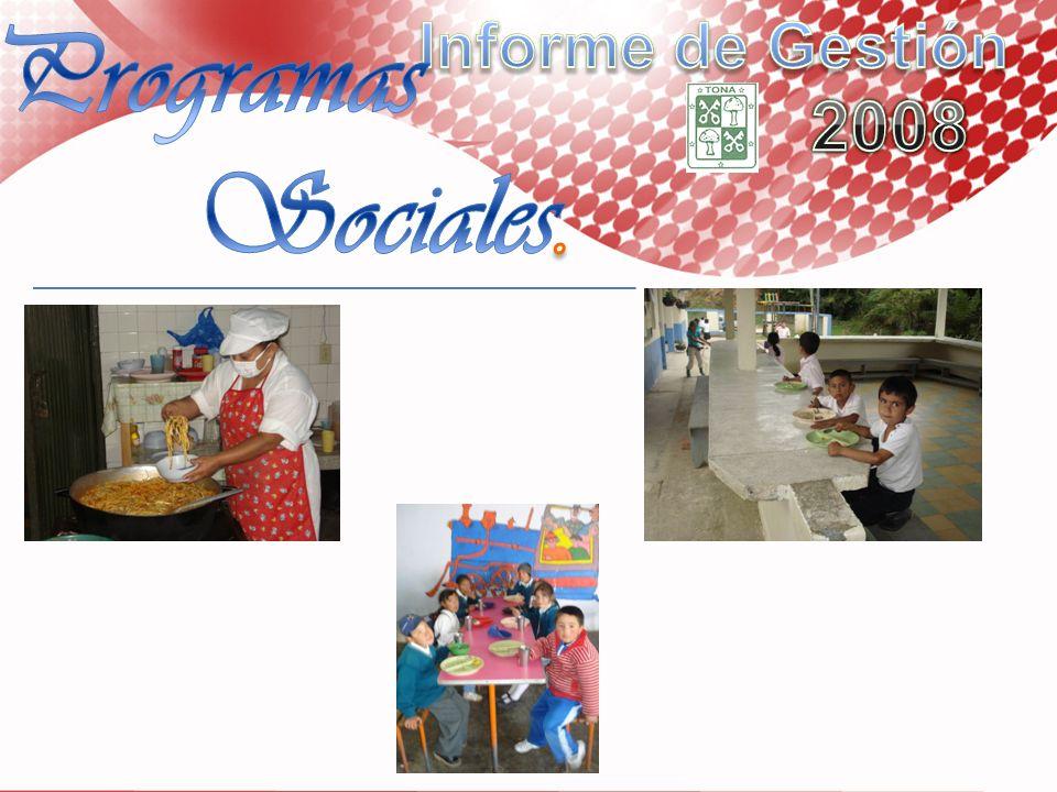 Informe de Gestión 2008 Programas Sociales.