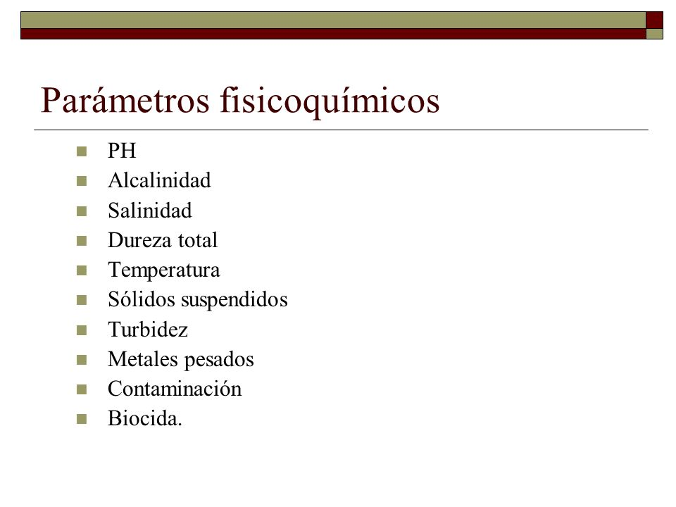 Parámetros fisicoquímicos