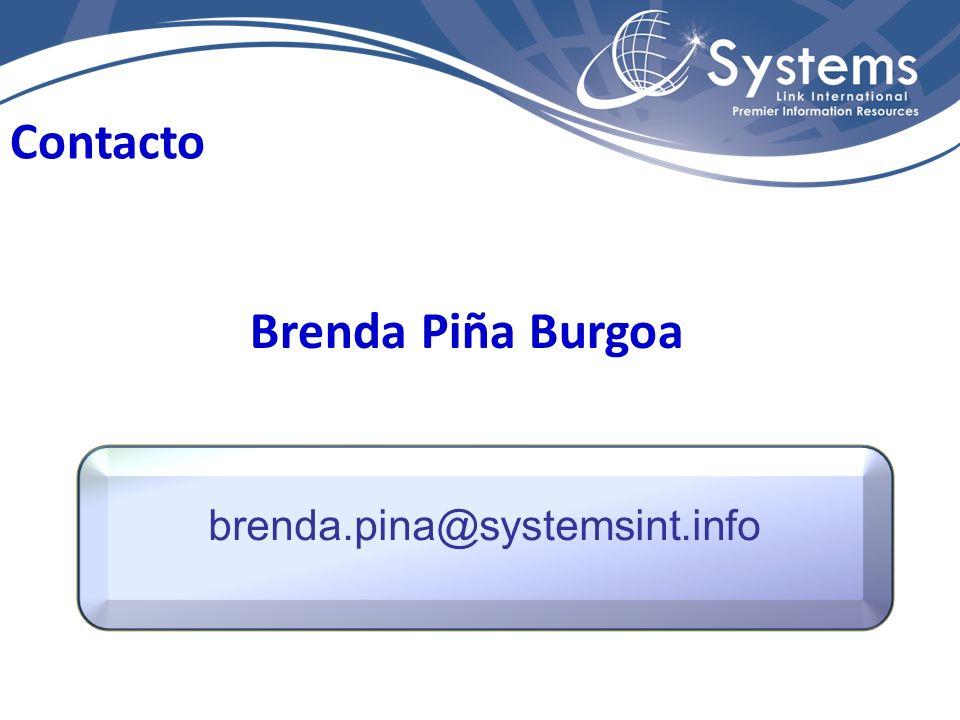 Contacto Brenda Piña Burgoa brenda.pina@systemsint.info