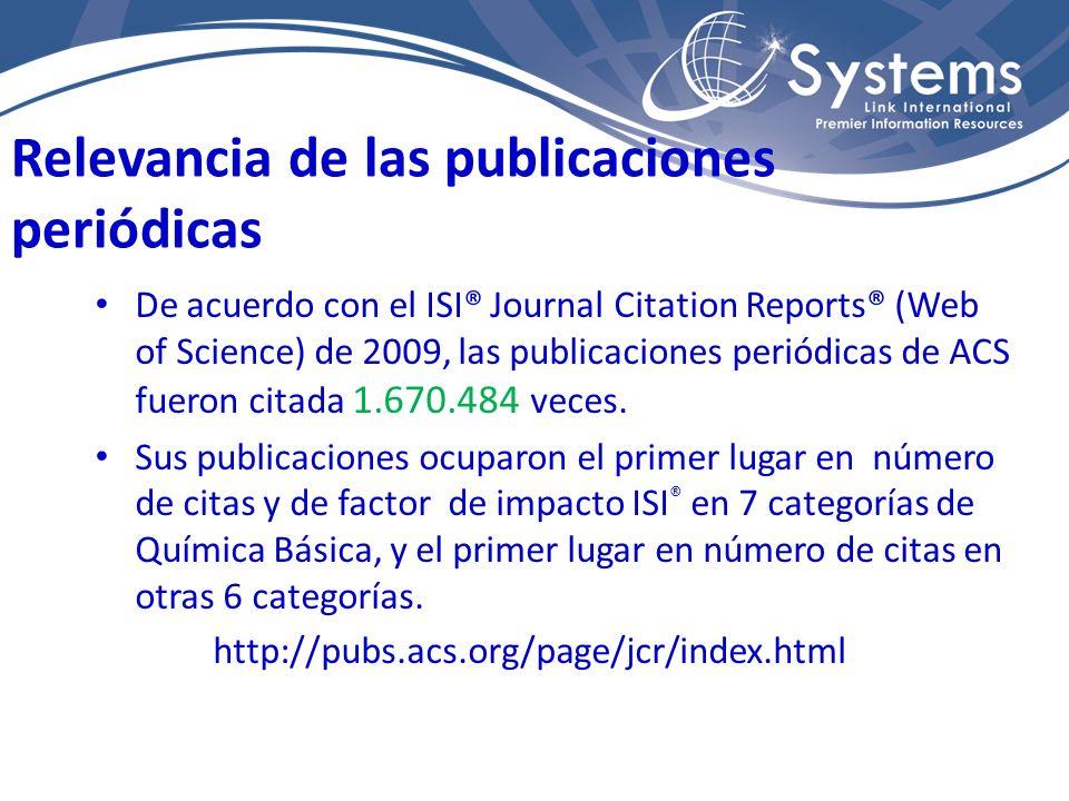Relevancia de las publicaciones periódicas