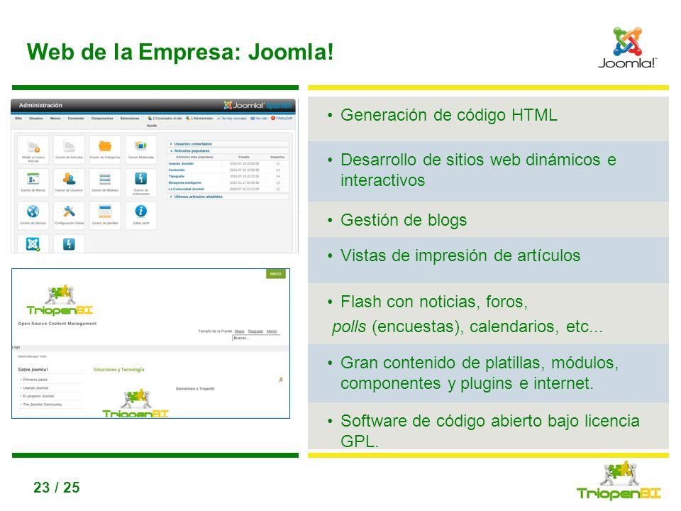Web de la Empresa: Joomla!