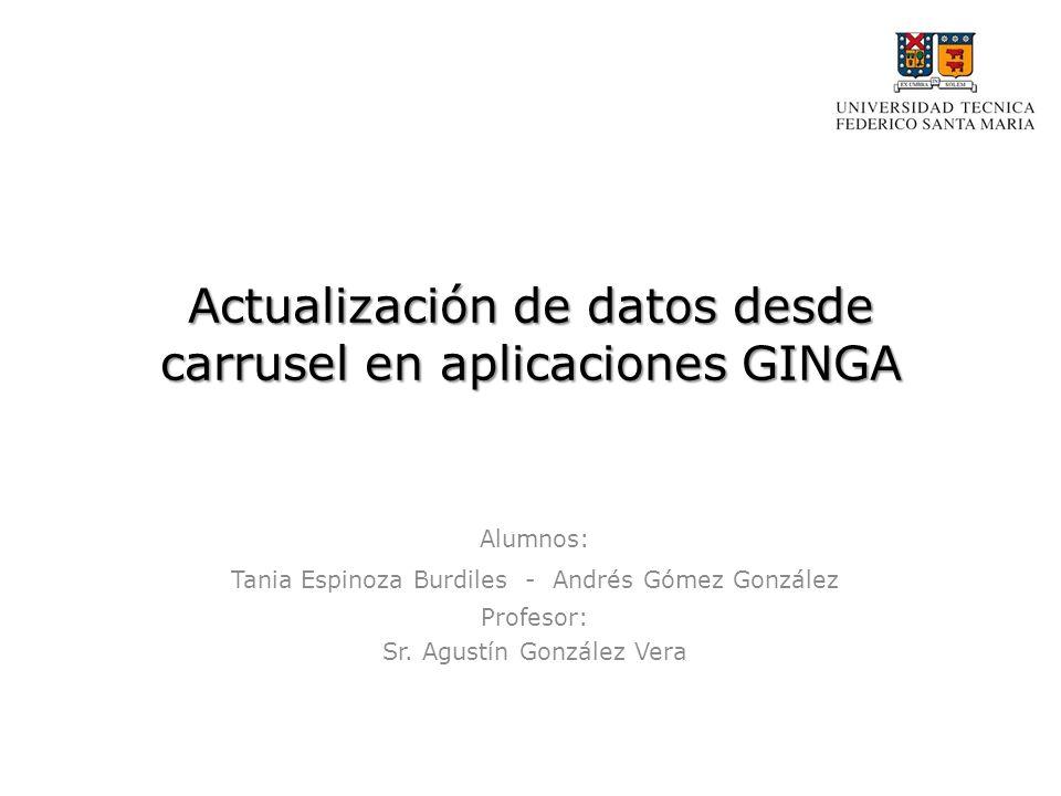 Actualización de datos desde carrusel en aplicaciones GINGA