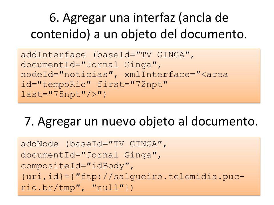 7. Agregar un nuevo objeto al documento.
