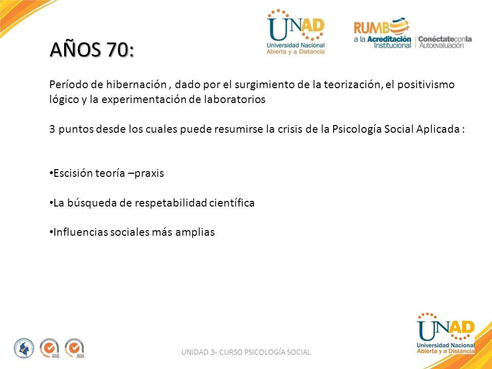 UNIDAD 3- CURSO PSICOLOGÍA SOCIAL